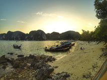 Phi phi Island front beach Royalty Free Stock Photography