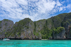 Phi Phi Island. The most famous Island will be the Phi Phi Island. The Big and Small Phi Phi Islands combines with fragmentary island to make this archipelago Royalty Free Stock Photography