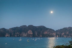Phi Phi island by night Royalty Free Stock Photos