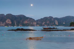 Phi Phi island at night Royalty Free Stock Images