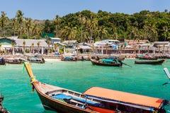 Phi Phi island pier Stock Photos