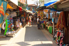 Phi Phi Island street - Thailand Royalty Free Stock Image