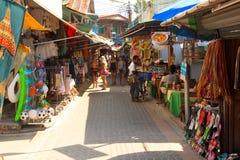 Phi Phi Island street - Thailand Royalty Free Stock Image