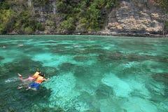 Phi Phi Island in Thailand Stock Foto's