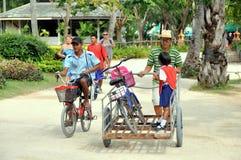 Phi Phi Island, Thailand: Bicycle Transport Stock Photos