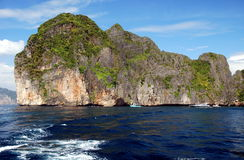 Phi Phi Island, Thailand: Dramatic Rock Formations Stock Image