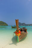 Phi Phi Island - Traditional longtail boat in Loh Dalum Bay Stock Images