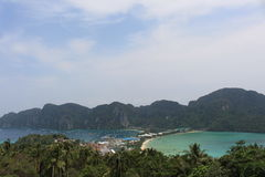 Phi Phi Island view point. Thailand Royalty Free Stock Photo