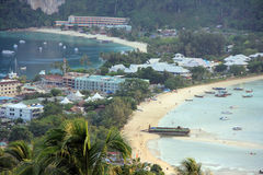 Phi Phi. Island, viewed from the viewpoint Royalty Free Stock Images