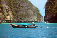 Phi Phi Islands - The Beach - Thailand. The Phi Phi Islands are located in Thailand, between the large island of Phuket and the western Strait of Malacca coast stock image