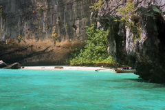 Phi Phi Islands - The Beach - Thailand. The Phi Phi Islands are located in Thailand, between the large island of Phuket and the western Strait of Malacca coast stock images
