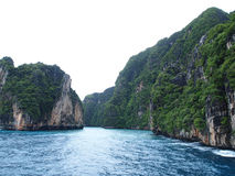 The Phi Phi Islands , Thailand. The Phi Phi Islands are located in Thailand , between the large island of Phuket and the western Andaman Sea coast of the Royalty Free Stock Images