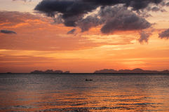 Phi-Phi islands in Thailand Don and Leh. Koh Phi-Phi Don and Koh Phi-Phi Leh islands seen from Koh Jum in Thailand Stock Photography