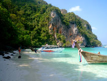Phi Phi Islands - Thailand. The Phi Phi Islands are located in Thailand, between the large island of Phuket. The islands are part of Krabi province. Ko Phi Phi royalty free stock images