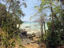 Phi phi Koh надевает пляж Таиланд Стоковая Фотография