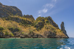 Phi-Phi Lee shoreline Royalty Free Stock Photography