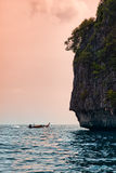 Phi Phi Leh island, Thailand, northern cliff Royalty Free Stock Images