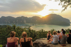 Phi phi sunset Royalty Free Stock Image
