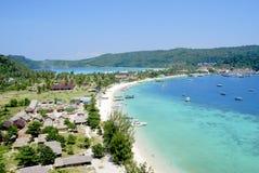 Phi Phi trekt eiland aan Stock Foto's