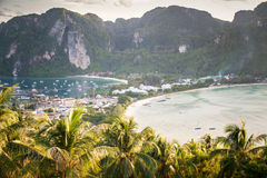 Phi Phi viewpoint in  evening Royalty Free Stock Photos