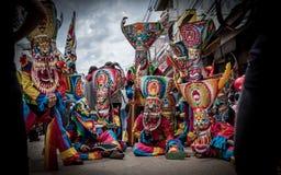 Phi Ta Khon Festival i Moung Loei av Thailand Royaltyfria Foton