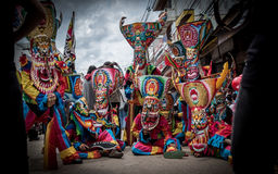 Phi Ta Khon Festival in Moung Loei van Thailand royalty-vrije stock foto's