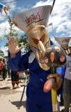 Phi Ta Khon Ghost Festival. Unidentified colorful ghost mask in Phi Ta Khon Festival, Loei Province, Thailand Stock Photos