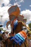 Phi Ta Khon Ghost Festival. Unidentified colorful ghost mask in Phi Ta Khon Festival, Loei Province, Thailand Stock Image