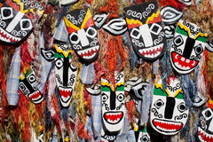 Phi Ta Khon Ghost mask in festival in thailand Stock Photography