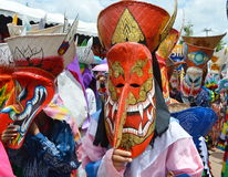 Phi Ta Khon is a type of masked procession celebrated in Thailand Royalty Free Stock Photo