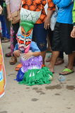 Phi Ta Khon is a type of masked procession celebrated in Thailand Stock Images