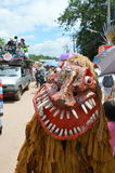 Phi Ta Khon is a type of masked procession celebrated in Thailand Stock Image
