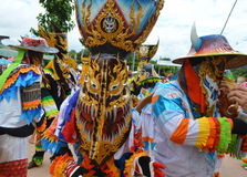 Phi Ta Khon is a type of masked procession celebrated in Thailand Royalty Free Stock Photos