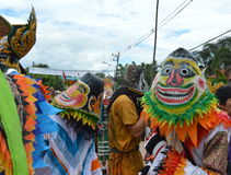 Phi Ta Khon is a type of masked procession celebrated in Thailand Royalty Free Stock Image