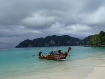 Phi Phi Traditional Fishing Boat stock image