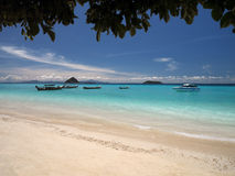Phi van Ko Phi Eiland - Overzees Andaman - Thailand Stock Foto's