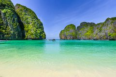 Phi Phi Zawietrzna wyspa, Krabi prowincja, Andaman morze obraz stock