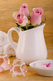 Phial with rose oil Stock Photography