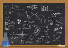 Phial science chalkboard Stock Images