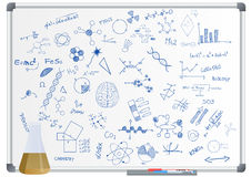 Phial science whiteboard Royalty Free Stock Images