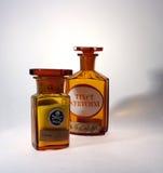 Phials farmacêuticos velhos Fotografia de Stock Royalty Free