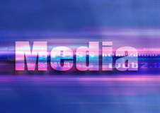 Phic media technology. Internet symbol media in a graphic univers Stock Image