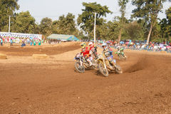 Phichit,Thailand,December 27,2015:Extreme Sport Motorcycle,The motocross competition,motocross rider and free fee to see Royalty Free Stock Image