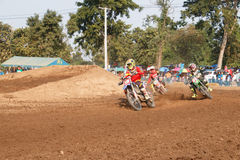 Phichit,Thailand,December 27,2015:Extreme Sport Motorcycle,The motocross competition,motocross rider and free fee to see Stock Photos