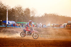Phichit,Thailand,December 27,2015:Extreme Sport Motorcycle,The motocross competition,motocross rider and free fee to see Stock Photo