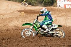 Phichit,Thailand,December 27,2015:Extreme Sport Motorcycle,The motocross competition,motocross rider and free fee to see Royalty Free Stock Photo