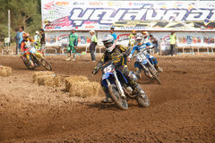 Phichit,Thailand,December 27,2015:Extreme Sport Motorcycle,The motocross competition,motocross rider and free fee to see Stock Image