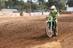Phichit,Thailand,December 27,2015:Extreme Sport Motorcycle,The motocross competition,motocross rider and free fee to see Royalty Free Stock Images