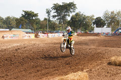 Phichit,Thailand,December 27,2015:Extreme Sport Motorcycle,The motocross competition,motocross rider and free fee to see Stock Images
