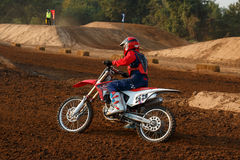 Phichit,Thailand,December 27,2015:Extreme Sport Motorcycle,The motocross competition,motocross rider and good driver Stock Image